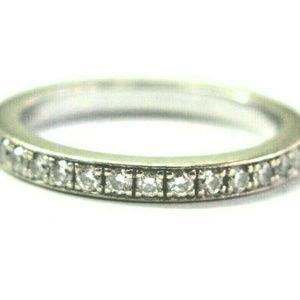 Jewelry - Fine Round Cut Diamond Milgrain White Gold Eternit